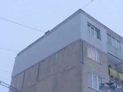 Утепление фасада 100мм.